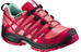 Salomon Junior XA Pro 3D CSWP Shoes Madder Pink/Lotus Pink/Lucite Green